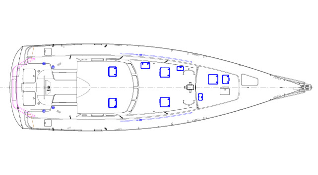 Sail plan expedition aluminum yacht