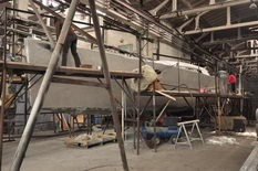 coque aluminium en forme voilier Futuna 50
