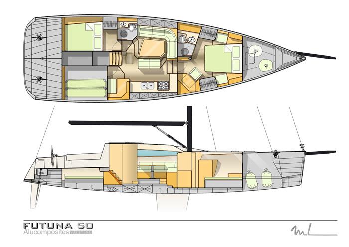 Futuna yachts chantier naval futuna 50 int rieur for Design d interieur gatineau