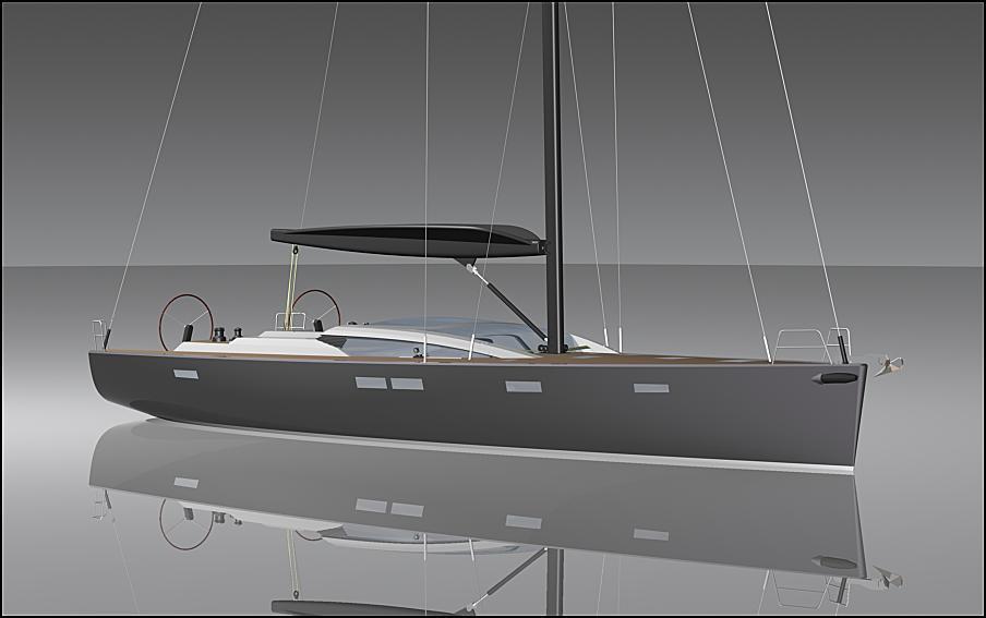 Futuna Yachts marine builders - Futuna 70 aluminum sail boat 3D models