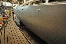 Aluminum hull work