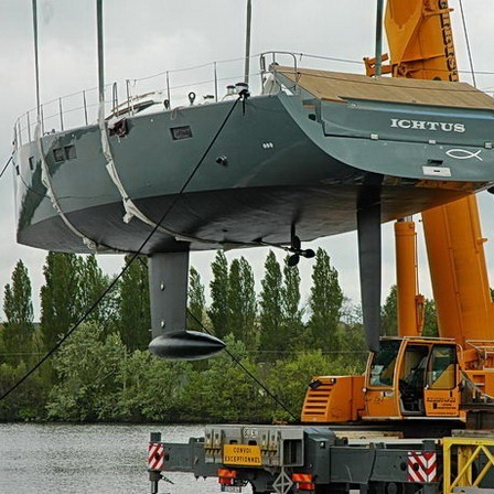 launch of aluminum super yacht