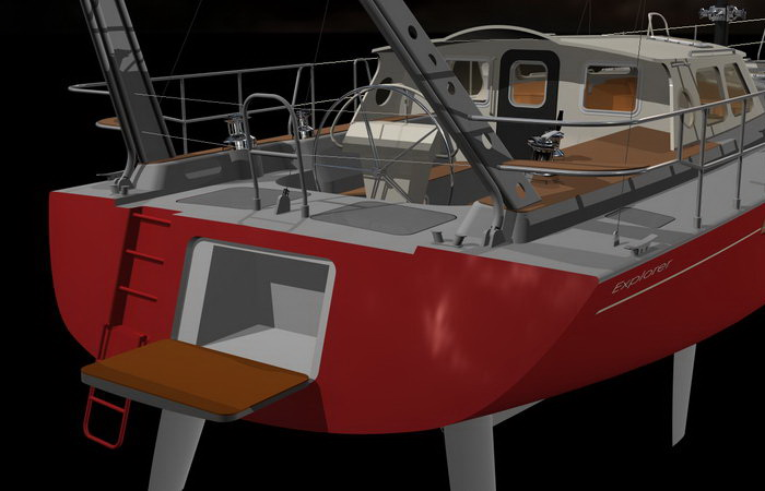 Sealing The Hull To The Deck besides Outdoor Kitchen Designs in addition Pictures moreover A Look At The New Build Wider 150 Superyacht together with Sailboatdetails. on composite deck plans